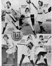 The 1946 All Star Team The First In History For The All American Girls Baseball League P 26 Of The 1 American Baseball League Baseball Girls Baseball League