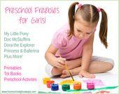 Girl Themed Preschool Activities, Freebies and Deals – School projects