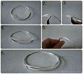 Easy Easy Easy …. How to make an easily adjustable bangle. , , , …