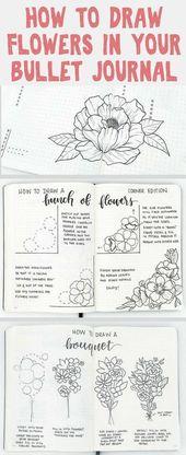 How to Draw Easy Flower Doodles for Bullet Journal Spreads – bullet journal