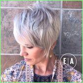 50+ Kurzes Haar – Eleganter strukturierter Elf im Silber  #kurzeFrisurenPixie #Kurzhaarschnit… –  – #Kurzhaarfrisuren