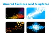 Illustrator Business Card Blurred business card templates set. Business Card Templates. $4.00