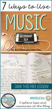Utilizing music in secondary ELA is a good way to extend scholar engagement and p…