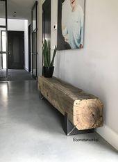 tv meubel hoog laag | tv meubels met lades | eiken boomstam | met koeienhuid | 1…