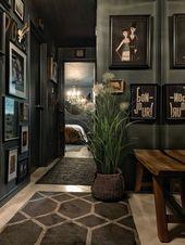 Ein Inky-Hued-Haus voller atemberaubender Kunst und gemütlichen Ecken – – #diy