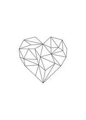 Geometrisches Herz, Plakat