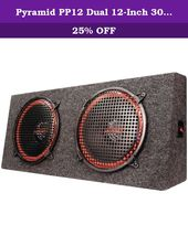Pyramid Pp12 Dual 12 Inch 300 Watt 4way Stereo Hatchback Speaker System Full Stereo Outputhigh Quality Mdf Carpeted Enc Car Subwoofer Stereo Car Audio Systems