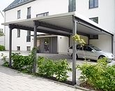 Pultdach Mit Trapezblech Fur Drei Stellplatze Freitragend Stahlgerust Pulverbeschichtet Anthrazit Carport Stahl Outdoor Dekorationen Carport Kaufen