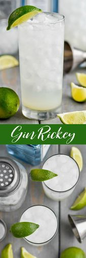 Dieses Gin Rickey Rezept ist die weniger süße, kalorienarme Version des Gin and To …   – Is it 5 o'clock yet ?