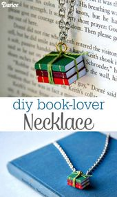 Wie erstelle ich Mini Book #necklace – 105 Top DIY Halskette Ideen, um diese Wee …