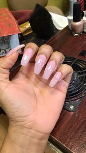 22 Lovely Acrylic Nails Peach – Follow Tropic M for more ❄ Acrylic Nail Des…