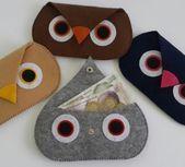 Custom Design Eule Figur Filz Brieftasche – #Brief…