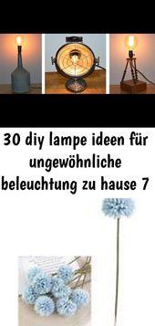 30 diy lampe ideen für ungewöhnliche beleuchtung zu hause 7