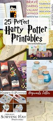 25 Perfect Harry Potter Printables – Collected by Bombshell Bling