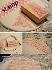 TUTORIAL!!!! Stamped Salt Dough Ornaments tutorial…