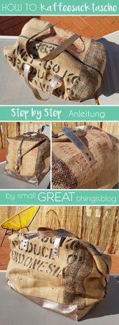 DIY coffee bag goes Duffle Bag
