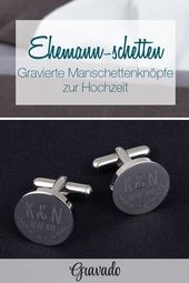 Cufflinks – Round – Silver – Leaves – Personalized
