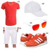 Herrenoutfit Rot Sommer | Lässige mode für männer, Herren