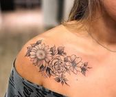 lily tattoo collarbone – Google Search