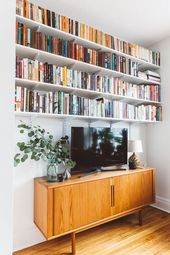 Bookcase Ideas, DIY Bookshelf Decorating Ideas, Bookcases for Small Space, Un …