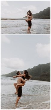 Summer engagement session, beach couple, engagement outfit idea – Ps – #Beach #C…   – Engagement