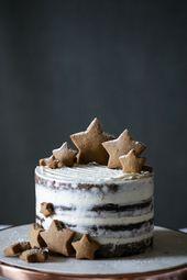 Pastel de pan de jengibre con cuajada de lima y glaseado de chocolate blanco   – Christmas Fare