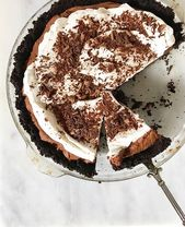 Chocolate Mousse Pie ist neu im Blog! Einfache hausgemachte Schokoladenmousse, Butte …