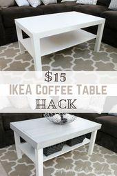 Ikea Lack Coffee Table Hack Simply Beautiful By Angela Ikea Coffee Table Ikea Lack Coffee Table Coffee Table Hacks