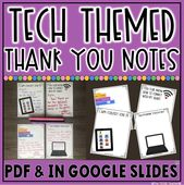Technology Themed Thank You Notes