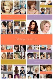 Medium length hairstyles for women #modern hairstyles # 2018 # hairstyles2018 #hair colors #haircuts