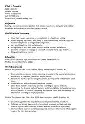Resume For Medical Receptionist sample medical receptionist resume Sample Resume Medical Receptionist Httpresumesdesigncomsample Resume