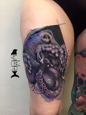 Realistic Octopus Tattoo, # Octopus Tattoo #realisticOctopusTattoo #Realistic,  #Octopus #oct…