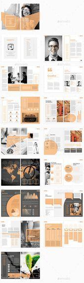Broschürenvorlage InDesign INDD #design Download: graphicriver.net / … – #Bro…