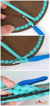 Super Sturdy Crochet Basket with Handles