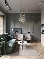 Ein schickes klassisches Apartment von Cartelle Design