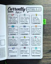 Ideen für das Bullet Journal Tracker {Erfasse, wie dein Leben gerade aussieht!}…