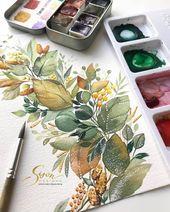 Sehen Sie mehr @ watercolorpaintin … #watercolor #water … – #draw #Water #watercolor …
