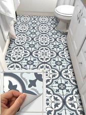 Fliesen Aufkleber Küche Bad Boden Wand wasserdich…