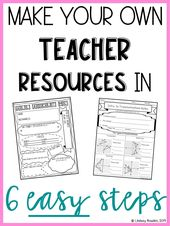 Make your own teacher resources in 6 easy steps. Make worksheets, assessments, a…