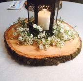 Set von 10 – 10 Zoll Holzscheiben! Hochzeit Tischd…