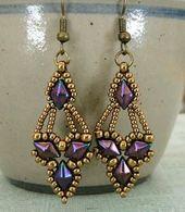 Linda's Crafty Inspirations: Free Beading Pattern – Arabella Earrings