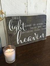 Wedding Memorial Sign- Wood Wedding Sign – This Li…