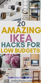 Easy IKEA Hacks Ideas #furniturehacks