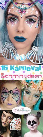 Diese super schönen Karnevals-Make-up-Ideen werden Sie begeistern   – Schminken