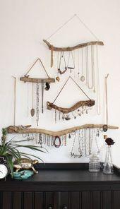 Driftwood Jewelry Organizer – Made to Order Schmuck Kleiderbügel – Wählen Sie das Treibholz – Boho Decor Storage Schmuck Halter hängen Schmuck Display   – Do it yourself:)