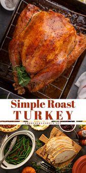 Simple Turkey Brine & Oven Roasted Turkey • Food, Folks and Fun