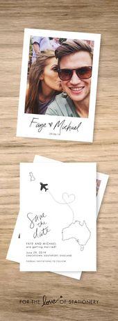 40 schöne Save the Date Karten Ideen für Ihre Hochzeit   – Hochzeit