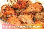 Pollo al horno con cerveza Ingredientes (para 4 personas): 4 muslos de pollo con … by @ recipesrapidas3   – Recetas sin thermomix