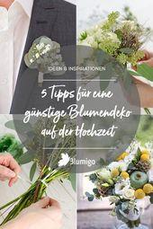 5 tips för en billig blommadekoration vid bröllopet