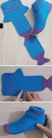 Folded Slippers Tutorial (Häkeln / Stricken) – Design Peak